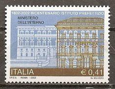 Italy. Scott # 2501 MNH. Prefectural Institute Bicent. 2002 - 6. 1946-.. Repubblica