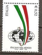 Italy. Scott # 2504 MNH. Italians Around The World. 2002 - 6. 1946-.. Repubblica
