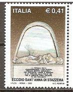 Italy. Scott # 2505 MNH. Monument Of Sant'Anna Di Stazzena Massacre. 2002 - 6. 1946-.. Repubblica