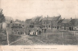 CPA KEMMEL GRAND PLACE AVEC KIOSQUE PERMANENT - Heuvelland