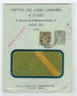 LETTRE TYPE SAGE TARIF PAPIERS D´ AFFAIRES 1913 - Postmark Collection (Covers)