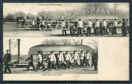 1910 Deutsche Pioniere, Übungen Am Brückenwagen Pontoon Bridge Engineers - Equipment