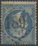 FRANCE N°22 (rousseurs) OBLITERE GC 189 , ASPRES - LES - VEYNES / HAUTES ALPES COTE MATHIEU 1994 : 23€ - 1849-1876: Klassieke Periode