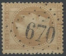 FRANCE N°28 A  ( TB)  OBLITERE GC 670 BUIRONFOSSE / AISNE ,  COTE MATHIEU 1994 :  15€ - 1849-1876: Klassieke Periode