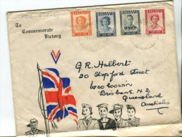 (135) End Of WWII - Southern Rodhesia FDC Cover - 8-5-1947 - Militaria
