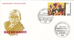 Germany FDC: 1974 Bonn Max Beckmann Deutsche Expressionismus  (C54) - Arte