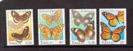 TOKELAU 1995 PAPILLONS  YVERT N°217/20  NEUF MNH** - Butterflies