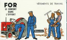 Buvard Publicitaire Vetements De Travail For - Textile & Vestimentaire