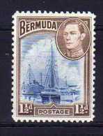 Bermuda - 1943 - 1½d Definitive (Blue & Brown) - MH - Bermudes