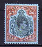 Bermuda - 1950 - 2/6d Keyplate Definitive (Perf 13, Ordinary Paper) - MH - Bermudes
