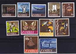 Zambia - 1968 - Decimal Currency Definitives (Part Set) - MH - Zambie (1965-...)