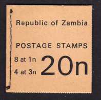Zambia - 1968 - 20n Stamp Booklet (Complete) - MNH - Zambie (1965-...)
