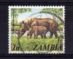 Zambia - 1975 - 1n Black Rhinoceros - Used - Zambie (1965-...)