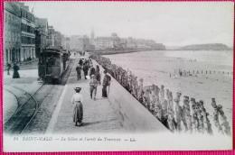 CPA-SAINT MALO-ILLE ET VILAINE-35-LE SILLON ET L'ARRET DU TRAMWAY-LL 14 - Saint Malo