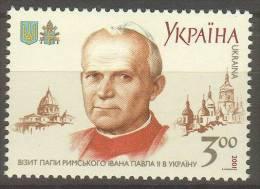 [21] - UKRAINE - N° YVert 435 -  NEUF SANS CHARNIERE - LUXE - Jean-Paul II - Ukraine