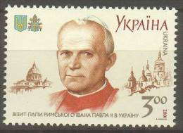 [21] - UKRAINE - N° YVert 435 (2) -  NEUF SANS CHARNIERE - LUXE - Jean-Paul II - Ukraine