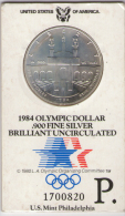 STATI UNITI 1 DOLLAR 1984 OLYMPIC SILVER DOLLAR BRILLIANT UNCIRCULATED - Emissioni Federali
