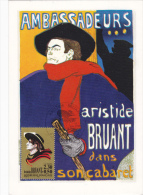 Carte Maximum FRANCE  N°Yvert 2649 (Aristide BRUANT Par TOULOUSE LAUTREC) Obl Sp Ill 1er Jour (Ed Hazan) - 1990-99