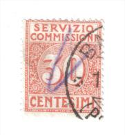 Servizio Commissioni 1913 Vitt. Em. III° 30 Cent  Usato   COD FRA.158 - 1900-44 Vittorio Emanuele III