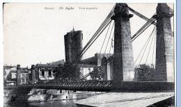 Agde (Hérault)  Le Pont Suspendu    (LES 2 CARTES) - Agde
