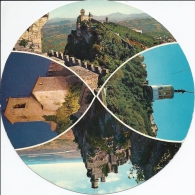 SAINT - MARIN ..-- Carte Ronde . A Voir !! - San Marino