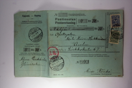 Finland Under Russian Occupation, Postanvisning/Money Order, 1915, Mixed Stamps Oulu - 1856-1917 Russian Government