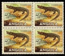 ANGOLA 1953  ANIMAUX D'ANGOLA  ANIMALS OF ANGOLA  CROCODILO  CROCODILE Champse Vulgaris - Angola