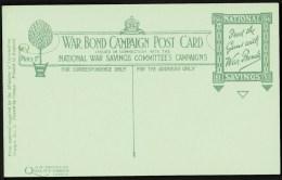 "WW1  War Bond Campaign Post Card  No5  ""Heavy Gun Under Camouflage"". - Patriotic"