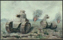 """WW1  War Bond Campaign Post Card  No9  """"Whippet Tanks In Action"""". - Patriotic"""