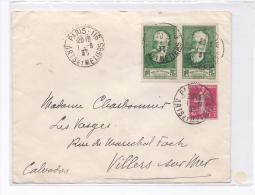France 1937 - Jolie Lettre Avec Paire 343 - Storia Postale