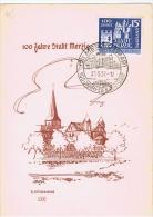 Sarre:fdc.stadt Merzig. 26.5.1957 - Sarre