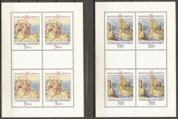 CHECOSLOVAQUIA 1975 - Yvert #C2110/11 (Minipliego) - MNH ** - Hojas Bloque