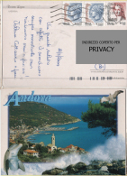 Cart671 Andora, Rviera Ligure, Liguria, Porto, Chiesa, Delfino, Port, Eglise, Dolphin, Gabbiano, Sea Bird - Savona