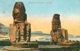 Egypte - Ref A326- Memmon Colosse - Thebes - Carte Bon Etat   - - Egypt
