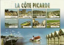 PICARDIE La Côte Picarde - Multivues Mers-les-Bains Fort-Maqhon Ault-Onival Etc...(RARE Circulé Voir Détails 2scan) MD99 - Picardie