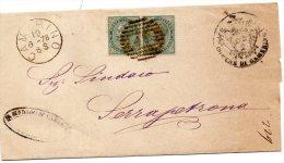 1878 LETTERA CON ANNULLO CAMERINO MACERATA - Storia Postale