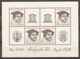 CHECOSLOVAQUIA 1983 - Yvert #2521 (Minipliego) - MNH ** - Hojas Bloque