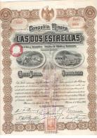 PORQUEROLLES - ACTION - FOURNIER - MINES - MEXIQUE - DOS ESTRELLAS - 1906 - RRR.. - Mines