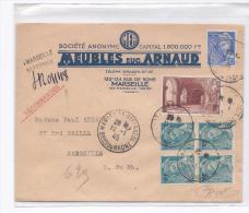 France 1945 - Jolie Lettre Recommandé  Avec 661 +  Timbres Surchargé RF Et Non Surchargé - Storia Postale