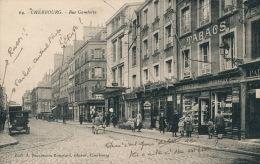CHERBOURG - Rue Gambetta (belle Animation Avec Commerces) - Cherbourg