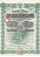 PORQUEROLLES - ACTION - FOURNIER - MINES - MEXIQUE - DOS ESTRELLAS - 1906.RR. - Mines