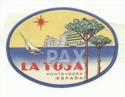 SPAIN ♦ PONTEVEDRA ♦ LA TOJA ♦ ESPAÑA ♦ VINTAGE LUGGAGE LABEL ♦ 2 Scans - Etiketten Van Hotels