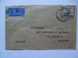 KENYA UGANDA TANGANYIKA KUT GEORGE VI  AIR MAIL COVER NAKURU KENYA TO SCOTLAND - Kenya, Uganda & Tanganyika