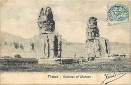 Egypte - Ref A222- Thebes - Colosses Of Memnon - - Egypt