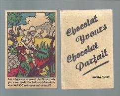S305 - VIGNETTE CHOCOLAT YVOURS - CHASSEUR DE RHINOCEROS - Unclassified