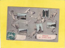 CPA - 59 - Bonjour De TRELON - Multivues  - Carriéres - Ecole - Eglise - Etang De La Folie - 1910 - France