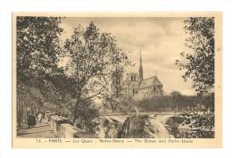 Cp, 75, Paris, Les Quais, Notre-Dame, écrite 1938 - Notre Dame De Paris