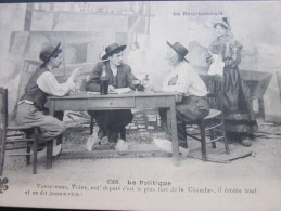 CPA:folklore De France La Politique:voyez-vous,Toin E,not' Député C'est Le + Fort De La Chambre,il écoute Et Ne Dit Rien - People