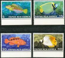 Papouasie Et Nouvelle-Guinée Papua 1976 Yvertn° 313-316 *** MNH Cote 7,50 Euro Faune Poissons Vissen - Papouasie-Nouvelle-Guinée