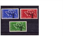 "Chypre (1962)  - ""Europa"" Neufs* - Cyprus (Republic)"